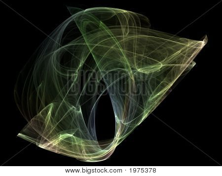 Optical Art Fractal Attractors Poly Multicolor Two Variant Four A