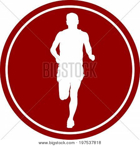 sports sign icon male runner athlete running