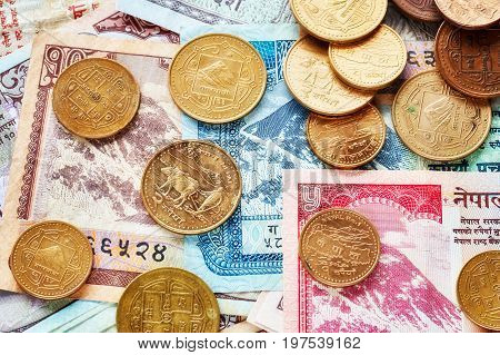 Close Up Picture Of Nepalese Rupee.