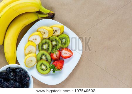 Appetizing Plate Of Fresh Fruits