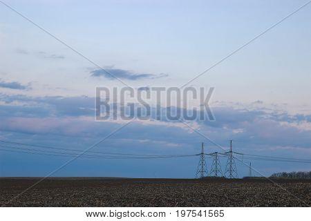 Summer evening sky - warm background lap pole