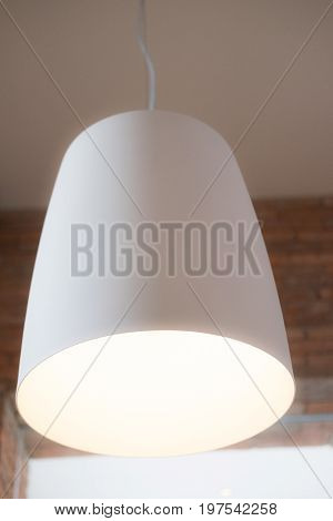 Modern hanging lamp, white lame decoration in home