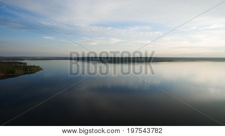 Landscape Of The Lake From A Height