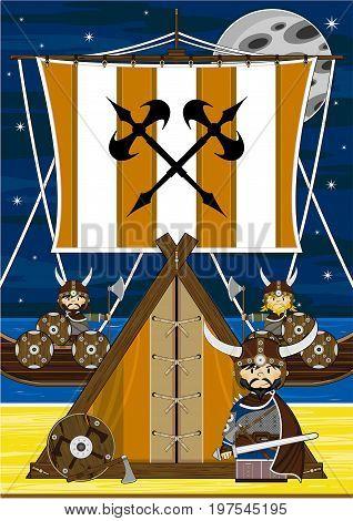 Vikings Ship & Tent Scene