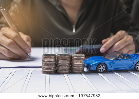 Car insurance and car services concept. Business concept. Car insurance concept.