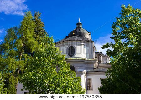 The Old buildings in Old Town of Salzburg, Austria