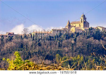 Church Of Mondaino In Italy
