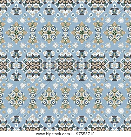 Seamless ethnic patterns for border. Repeated oriental frieze motif for fabric or paper design.