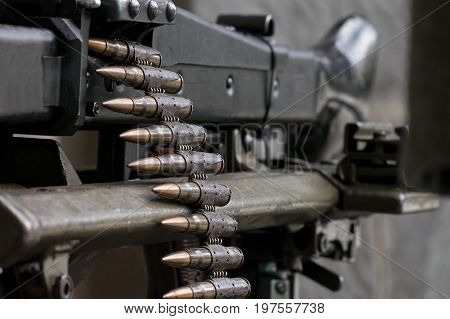 The Second World War german machine gun with ammunition caliber 7,92. This model is known as