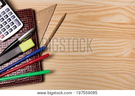 Brown Notebook And Stationery