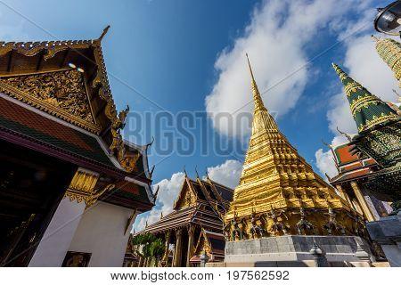 Temple Of The Emerald Buddha (wat Phra Kaew) In Bangkok, Thailand.