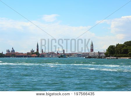 Island Of Venice With The Adriatic Sea