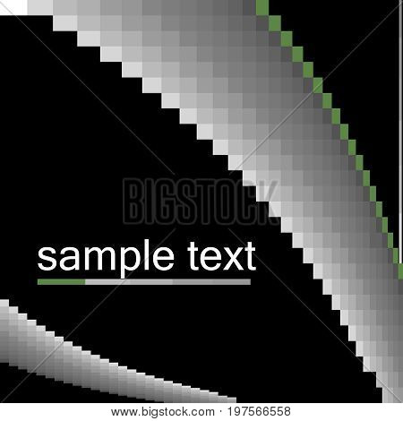 Abstract black vector background with sample text