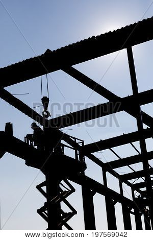 Silhouette Of The Workers Dissembling 3