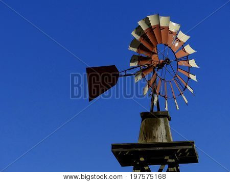 A Simple style windmill used to generate renewable energy.