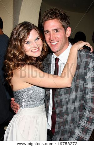 LOS ANGELES - DEC 11:  Heather Tom, Eric Szmanda (CSI) at Heather Tom's Annual Christmas Party 2010 at Private Home on December 11, 2010 in Glendale, CA.