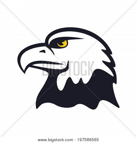 American eagle on a white background. One of symbols of the USA.