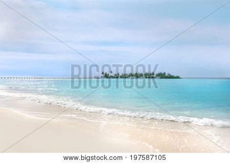 View of beautiful tropical beach on summer day
