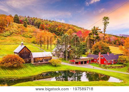 Vermont, USA early autumn rural scene.