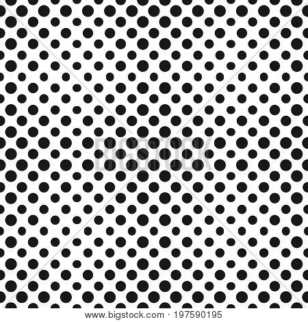 Halftone pattern. Half tone dots abstract monochrome background. Vector seamless pattern. Gradient transition effect. Simple modern black & white dotted texture. Design for decor, web, covers, fabric. Dot pattern.