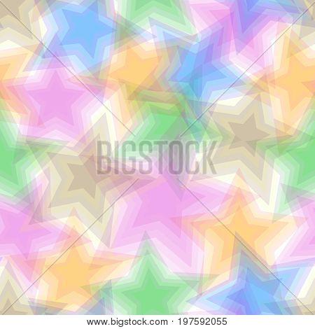Retro vivid square seamless pentagram background pattern
