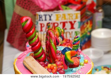 Candy Land Ice Cream Cone Birthday Event Catering Cake