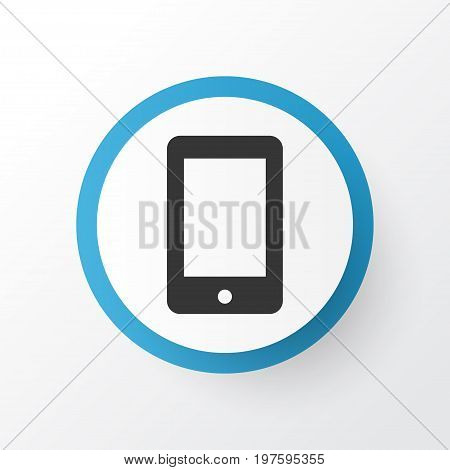 Premium Quality Isolated Cellphone Element In Trendy Style.  Smartphone Icon Symbol.