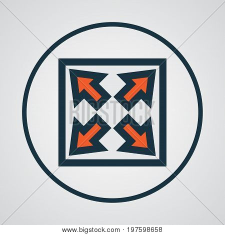 Premium Quality Isolated Enlarge Element In Trendy Style.  Widen Colorful Outline Symbol.