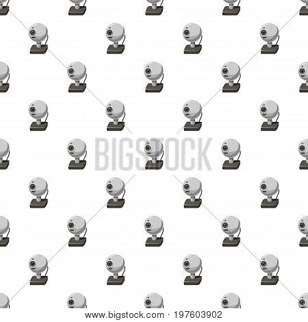Webcam pattern seamless repeat in cartoon style vector illustration