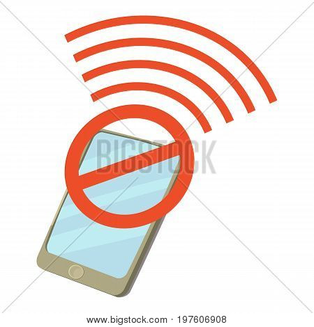 Broken cellular icon. cartoon illustration of broken cellular vector icon for web