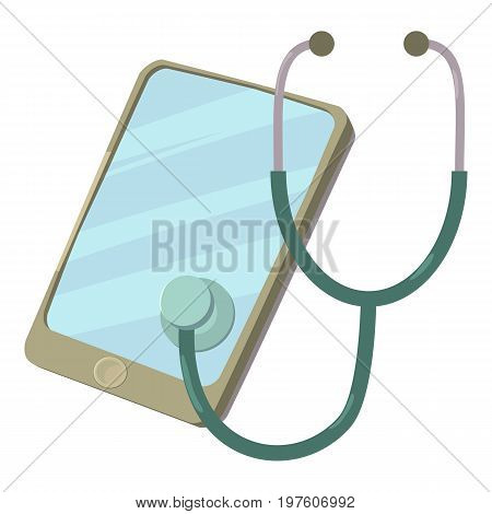 Smartphone diagnostic icon. cartoon illustration of smartphone diagnostic vector icon for web