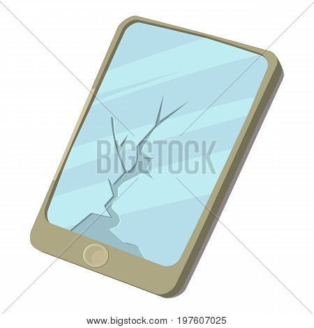 Broken screen icon. cartoon illustration of broken screen vector icon for web
