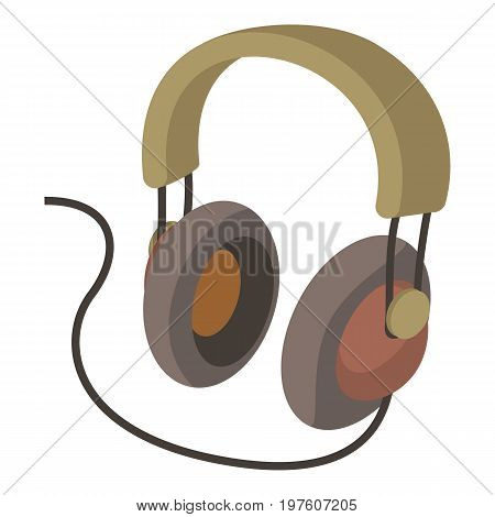 Headphone icon. cartoon illustration of headphone vector icon for web