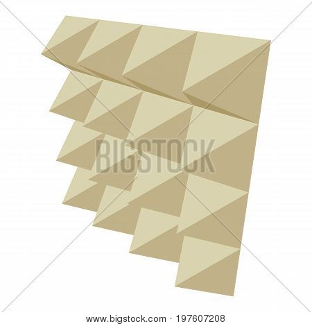 Soundproof panel icon. cartoon illustration of soundproof panel vector icon for web