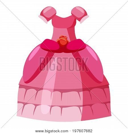 Princess dress icon. cartoon illustration of princess dress vector icon for web