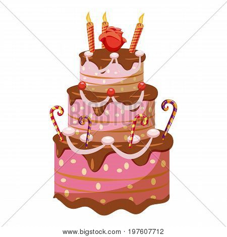 Princess cake icon. cartoon illustration of princess cake vector icon for web