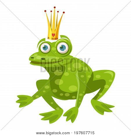 Princess frog icon. cartoon illustration of princess frog vector icon for web