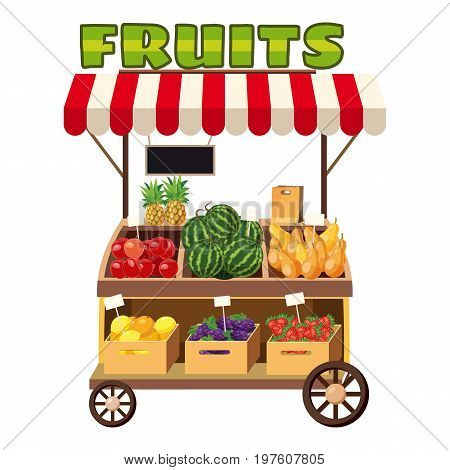 Fruit mobile snack icon. cartoon illustration of fruit mobile snack vector icon for web