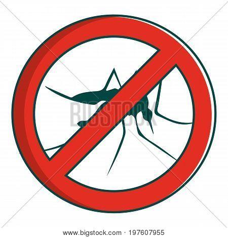 Mosquito icon. Cartoon illustration of mosquito vector icon for web design