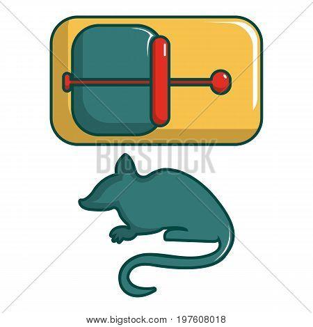 Mice trap icon. Cartoon illustration of mice trap vector icon for web design