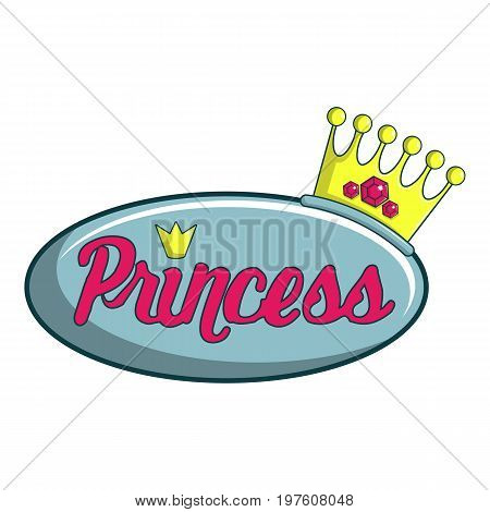 Princess show icon. Cartoon illustration of princess show vector icon for web design