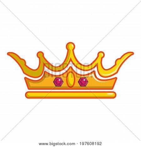 Queen crown icon. Cartoon illustration of queen crown vector icon for web design