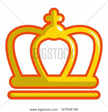 King crown icon. Cartoon illustration of king crown vector icon for web design