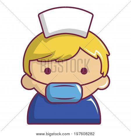 Pregnant nurse icon. Cartoon illustration of pregnant nurse vector icon for web design