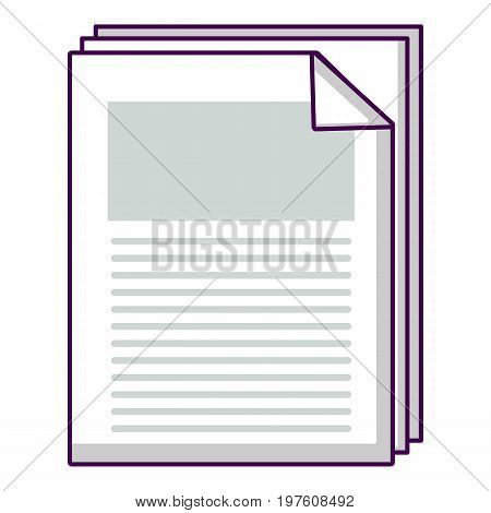 Files documents icon. Cartoon illustration of files documents vector icon for web design