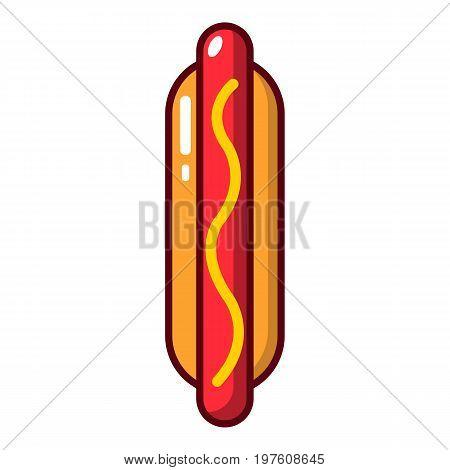 Hot dog icon. Cartoon illustration of hot dog vector icon for web design