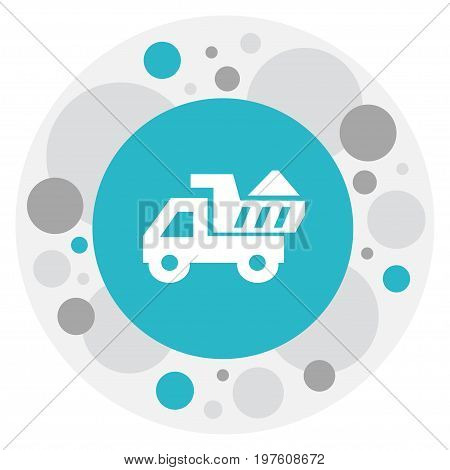 Vector Illustration Of Structure Symbol On Lorry Icon