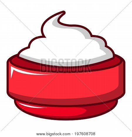 Ice cream icon. Cartoon illustration of ice cream vector icon for web design