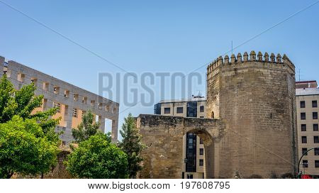 The Ancient Entrance City Gate And Tower To The City Of Cordoba, Spain, Europe