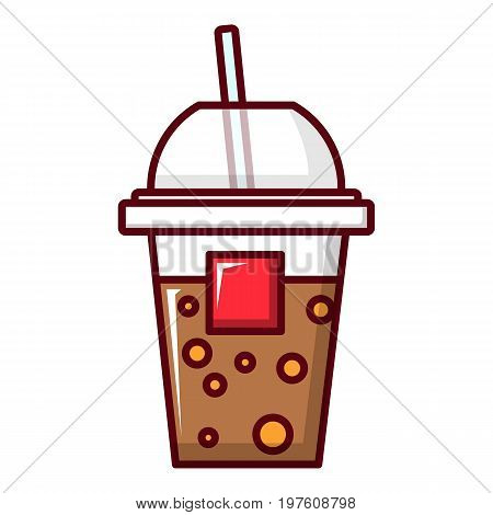 Paper cup icon. Cartoon illustration of paper cup vector icon for web design